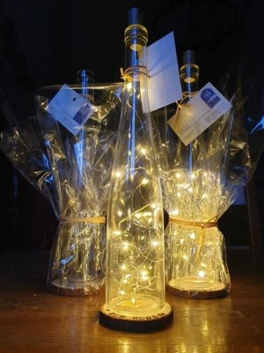 Lichterkette Dekoflasche